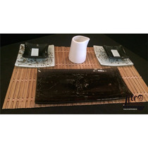 Set De Sushi - 2 Personas -platos Bandejas Dips Palillos