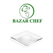 Crisa - Plato Cuadrado Transparente 26 Cm - Bazar Chef