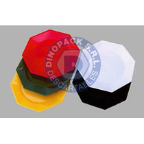 Platos Octogonales Plasticos 17cm. X 100 Unidades
