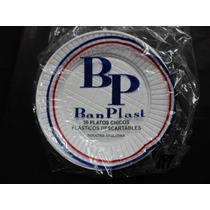 Platos Plasticos Descartables 17 Cm. Blancos X 50 U.