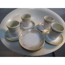 Juego De 5 Tazas/platos De Ceramica Artesanal
