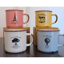 Taza Vintage Simil Loza - Regalo Original - Mug Retro!