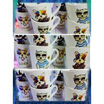 Taza Ceramica Cafe Te Simones Perros Local San Cristobal