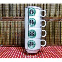 Starbucks Pocillos Apilables Para Café Con Rack 4 Unidades