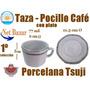 Taza Cafe Tsuji Ramses Negro Pocillo Octogonal Suji Plat 563