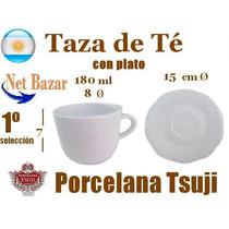Taza Te Tsuji Renacimiento Clasica Desayuno Plato Porcelana