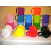 Tazas Plasticas Excelente Calidad Y Colores X 30 Unid $270