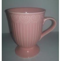 Set De 2 Tazones De Porcelana - En Caja -color Blanco O Rosa