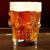 Vaso Cerveza Chop Calavera Importado Grande
