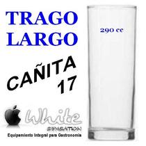 Vaso Trago Largo Cañita 17 Vidrio Ideal Boliches Bares Resto