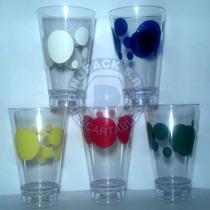 Vaso Plástico Trago Largo Simil Ilhabella X 6 Un - Motivos
