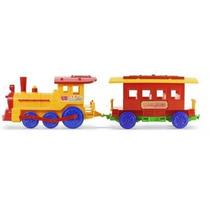 Calesita Tren Grande Locomotora + Vagón