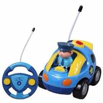 Auto De Policia Con Personaje A Control Remoto Luz Y Sonido