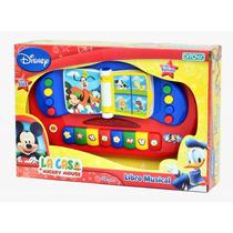Libro Musical Con Sonidos Y Luces, La Casa De Mickey Mouse