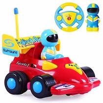 Auto Carrera Formula 1 Personaje Control Remoto Luz Y Sonido