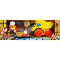 Set Juego Para Bebés De Goma Construcción Camión 5 Piezas
