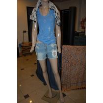 Rosh Short De Jean Color Azul Localzado Promo
