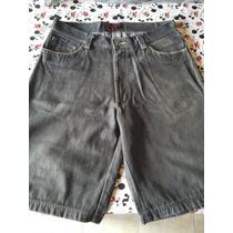 Bermuda De Jeans Negra Sismo /no Ecko - Sean John - Rocawear