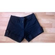 Shorts De Vestir Negro