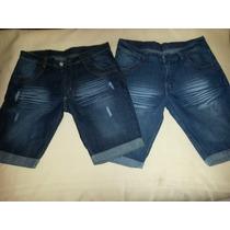 Bermuda De Jeans Localizado Roturas/sin Rotura Nene Talle 14