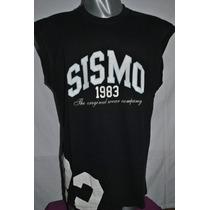 Pantalon Jean Sismo, Musculosa Negra Y Roja Sismo. Combo.
