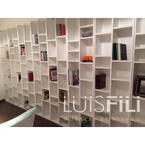 Biblioteca Mdf Melamina Diseño Minimalista Libros Cd Fabrica
