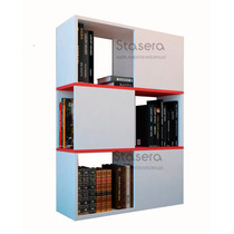 Biblioteca Minimalista - Melamina- Organizador Moderno