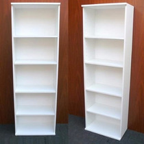 Biblioteca En Melamina 18m Blanco Oferta 0,60 X 1,80h