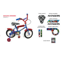 Bicicleta Para Chicos Rodado 12 Avengers
