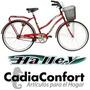 Bicicleta Paseo Halley 24 Con Canasto Y Porta Equipaje 19337