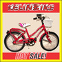 Bicicleta Playera Full Frenos Canasto R.16 Rojo Dama