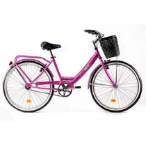 Bicicleta Paseo Dama Olmo Primavera Rod 26 Canasto-belgrano