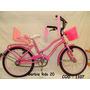 Bicicleta Barbie Rodado 20 Rosa