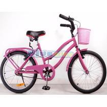 Bicicleta Rodado 20 Full Paseo Nuevas Nena Excelente Calidad