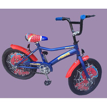 Bicicleta Hombre Araña Con Tazas - Rodado 16