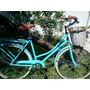 Bicicleta Damas Vintage C/ Canasto De Mimbre Frenos V-brake