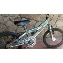 Bicicleta Olmo 16 Podium Cromada Infanfil En Sma. Usada.-
