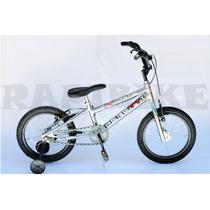 Bicicleta Rodado 16 Niño Freestyle Bmx Cromada