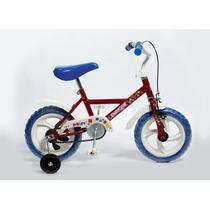 Bicicleta Rodado 12 Para Varón Niño Con Rueditas Paseo
