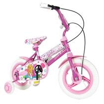 Bicicleta Rodado 12 Barbie Unibike Original Con Garantia