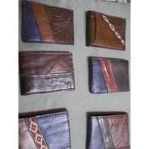 Billetera Cuero Real Combinada Varios Modelos