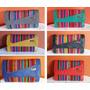 Billetera De Cuero Sintetico Con Aguayo, Variedad En Colores