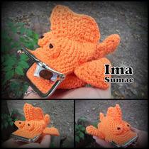 Monederos Tejidos En Crochet Con Pellizco. Artesanales
