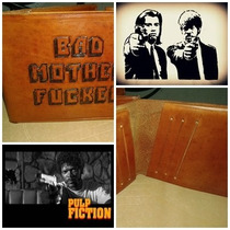 Billetera Pulp Fiction Version Artesanal En Cuero Genuino