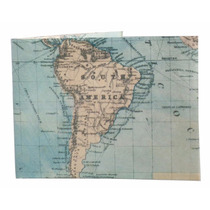 Billetera De Papel Tyvek Mundo Mapa Viajes