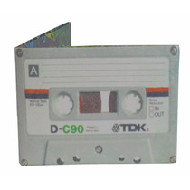 Billetera De Papel Tyvek Cassette Tdk