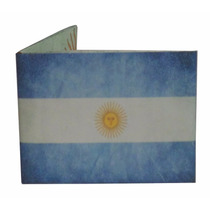 Billetera De Papel Tyvek Bandera Argentina Ecologica