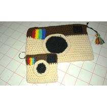 Cartuchera Y Monedero Tejidos Al Crochet
