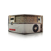 Billetera Cuero Retro Vintage Radio Amplificador Chocolate