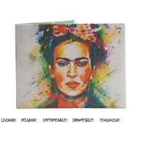 Billetera De Papel Tyvek Frida Kahlo Ecologica